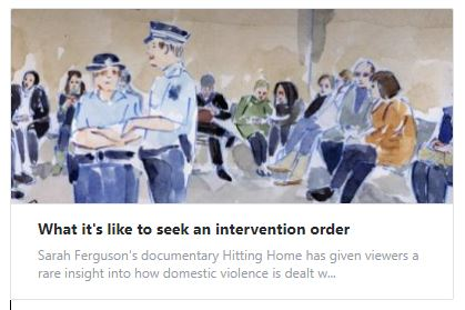 What it's like to seek an intervention order